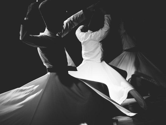 Dansare i svartvitt